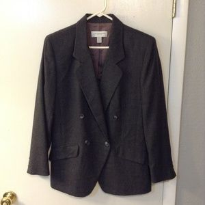 Liz Claiborne  Gray wool Double Breasted Jacket